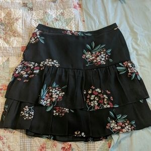 Loft outlet lined tiered skirt